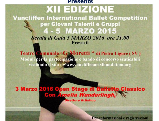 Διεθνής Διαγωνισμός Μπαλέτου Vancliffen